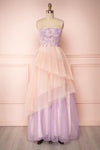Muroran Lilac & Pink Layered Bustier Dress | Boutique 1861