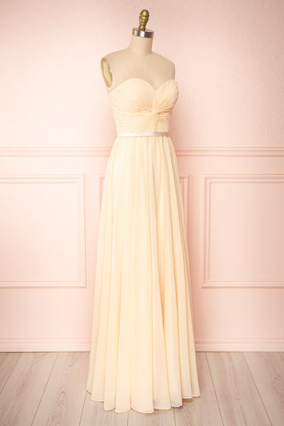 Myrcella Champagne Cream Corset Back Gown | Boudoir 1861 side view