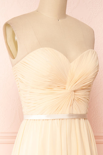 Myrcella Champagne Cream Corset Back Gown | Boudoir 1861 side close-up