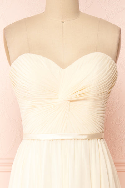 Myrcella Cream Corset Back Gown | Boudoir 1861 front close-up