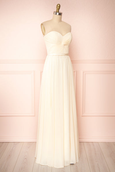 Myrcella Cream Corset Back Gown | Boudoir 1861 side view