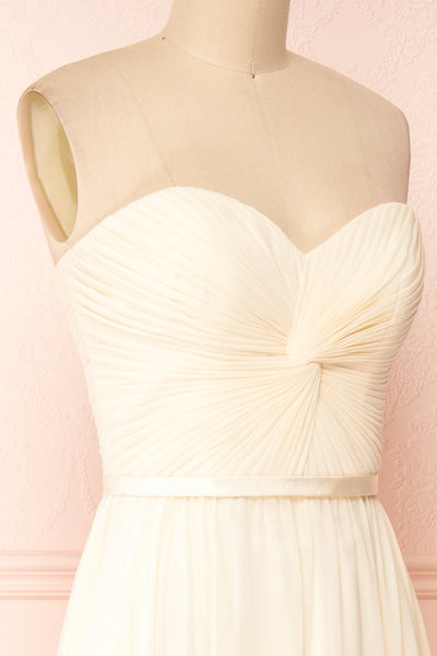 Myrcella Cream Corset Back Gown | Boudoir 1861 side close-up