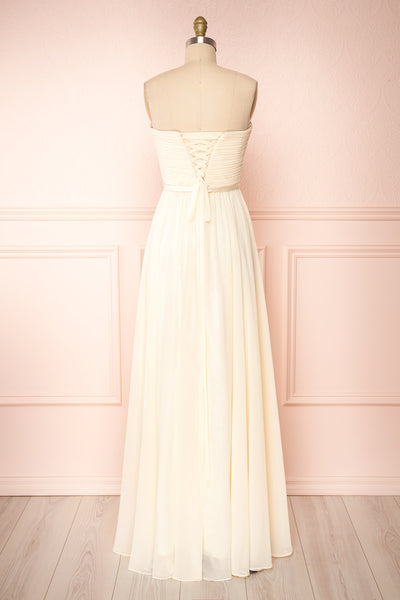Myrcella Cream Corset Back Gown | Boudoir 1861 back view