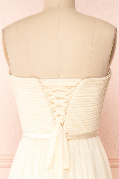Myrcella Cream Corset Back Gown | Boudoir 1861 back close-up