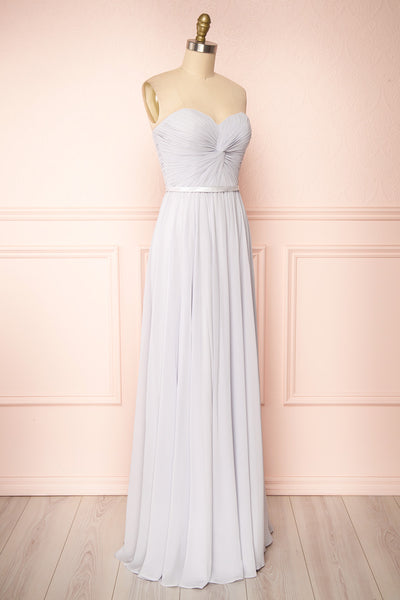 Myrcella Grey Corset Back Gown | Boudoir 1861 side view