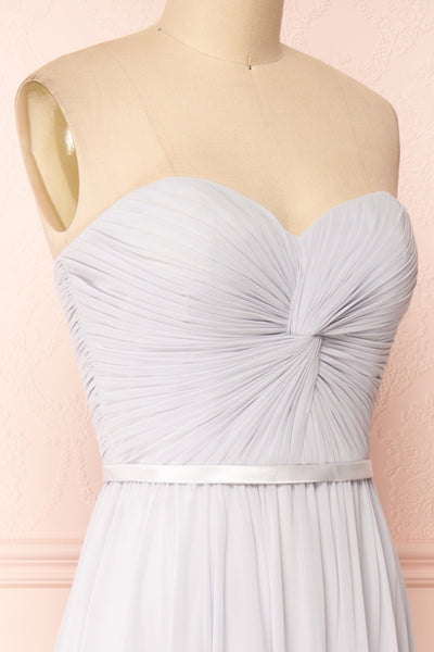 Myrcella Grey Corset Back Gown | Boudoir 1861 side close-up