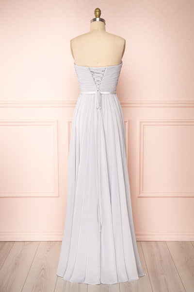 Myrcella Grey Corset Back Gown | Boudoir 1861 back view