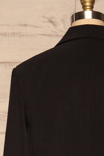 Myrl Noir Black Blazer | Veston Noir back close up | La Petite Garçonne