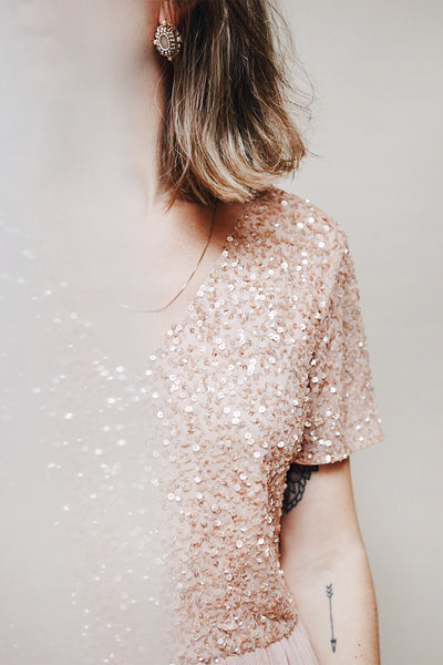 Naëlle Rose | Pink Sequined Gown