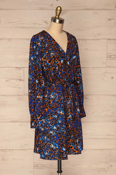 Nakhoda Blue Wrap Dress | Robe | La Petite Garçonne  side view