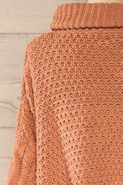 Nakka Pink Cropped Knit Sweater | La petite garçonne back close-up