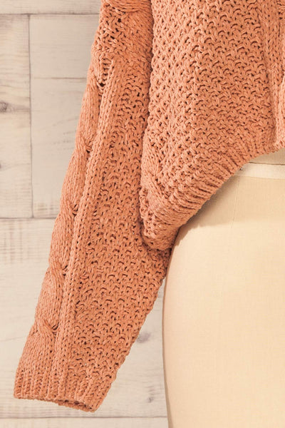 Nakka Pink Cropped Knit Sweater | La petite garçonne bottom