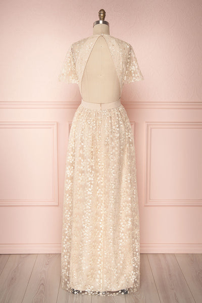 Namiko | Beige Embroidered Gown