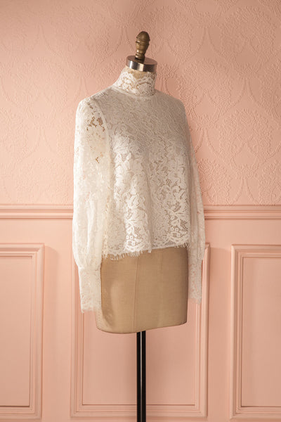 Nania Day - White lace stand collar blouse 3