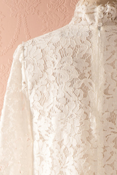 Nania Day - White lace stand collar blouse 6