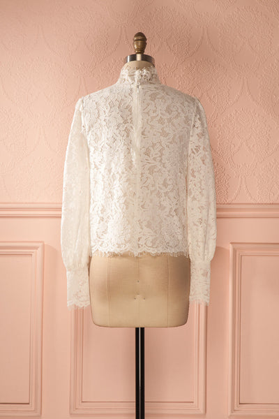 Nania Day - White lace stand collar blouse 5