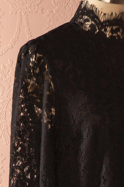 Nania Night - Black lace stand collar blouse 4