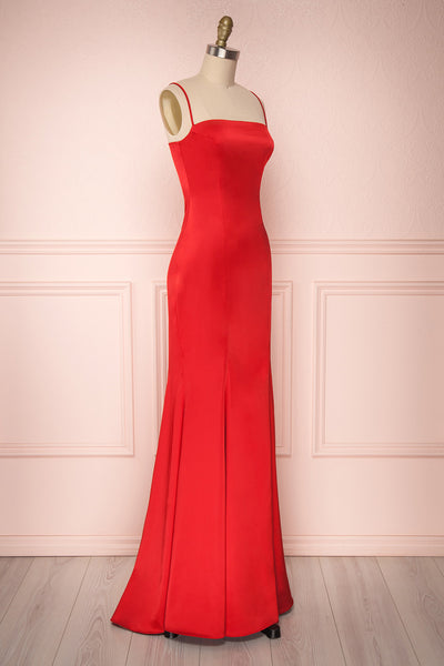 Naomie Red | Red Silky Gown