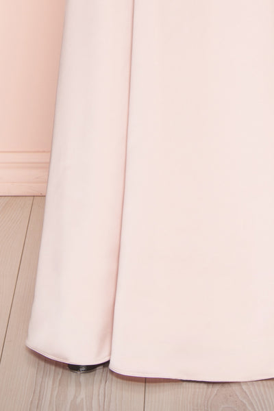 Naomie Blush | Pink Silky Dress