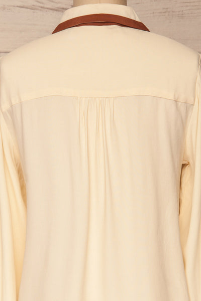 Nataf Cream Blouse | Chemisier | La Petite Garçonne | back close-up