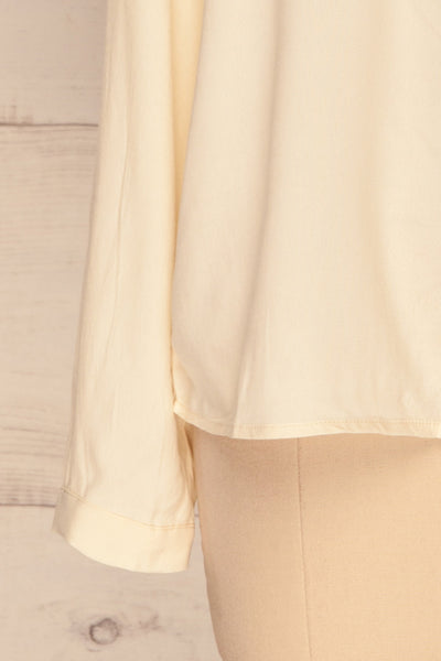 Nataf Cream Blouse | Chemisier | La Petite Garçonne | bottom close-up