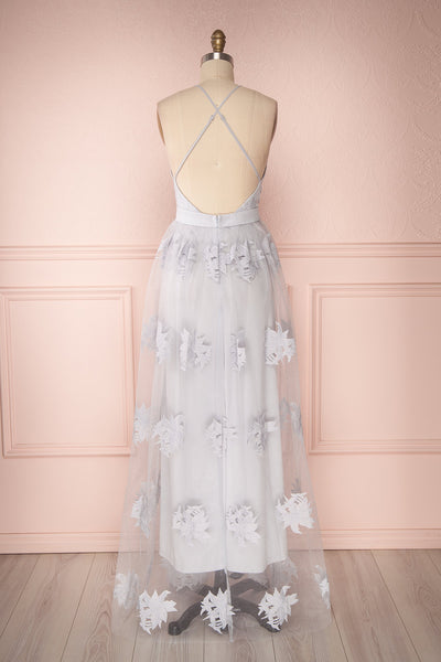 Naura Blue | Floral Tulle Dress