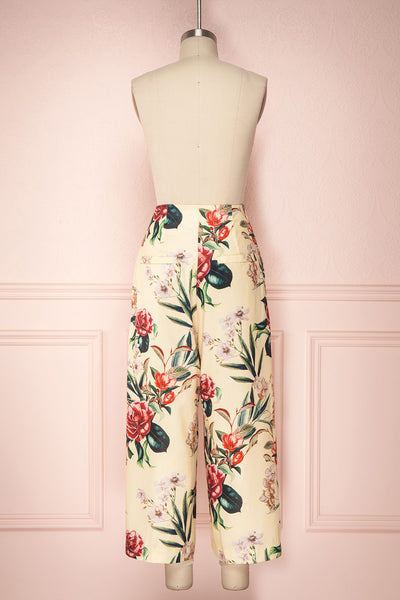 Nenita Yellow Floral Wide Leg Pants | Boutique 1861