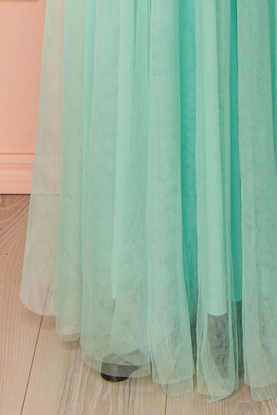 Néomie Mint Tulle Gown with Crocheted Lace | Boudoir 1861