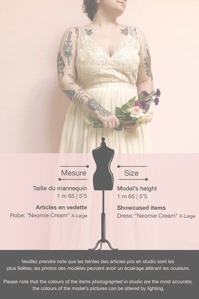 Néomie Cream Tulle Gown with Crocheted Lace | Boudoir 1861 template