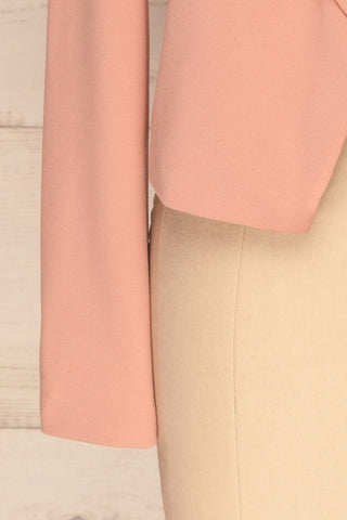 Nephele Pink Blazer | Veston Rose | La Petite Garçonne bottom close-up