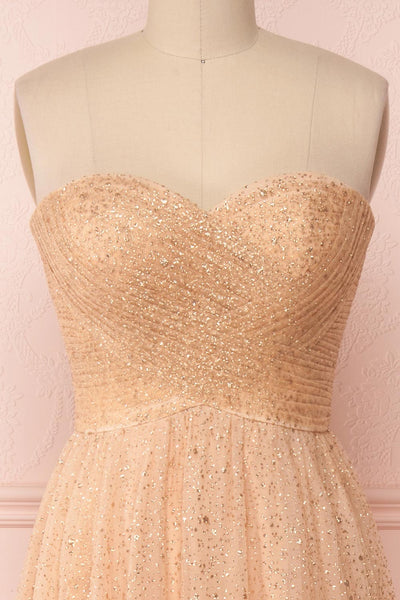 Netanya | Gold Bustier Dress