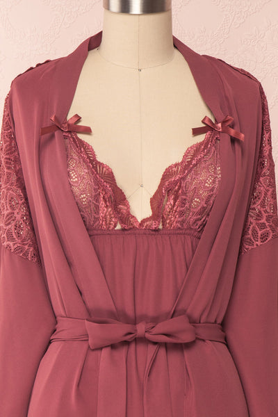 Nikaho Rose Antique Rose Kimono & Slip Dress Set | Boutique 1861