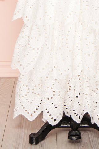 Nikoletta White Crocheted Lace Bridal Dress skirt | Boudoir 1861