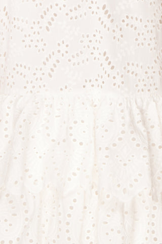 Nikoletta White Crocheted Lace Bridal Dress fabric | Boudoir 1861