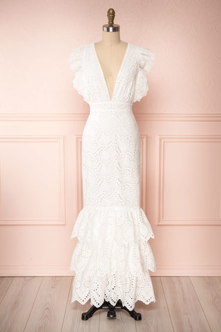 Nikoletta White Crocheted Lace Bridal Dress | Boudoir 1861