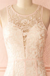 Nilia Quartz Light pink lace gown | Boutique 1861 front close-up
