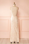 Nilia Quartz Light pink lace gown | Boutique 1861 back view
