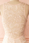 Nilia Quartz Light pink lace gown | Boutique 1861 back close-up