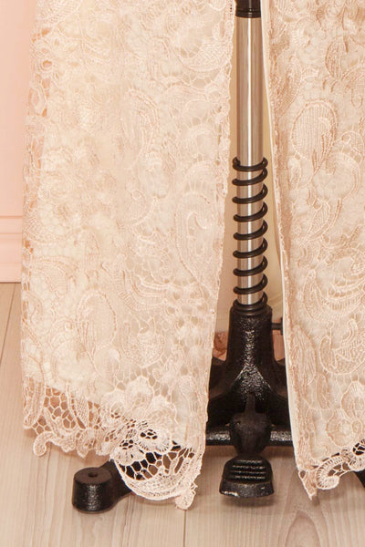 Nilia Quartz Light pink lace gown | Boutique 1861 bottom close-up