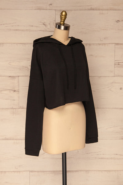 Nimegen Black Cropped Hooded Sweater | La petite garçonne side view