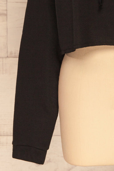 Nimegen Black Cropped Hooded Sweater | La petite garçonne bottom