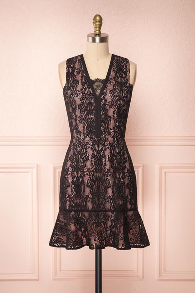 Nirvelli Black Lace Dress | Robe Cocktail | Boutique 1861