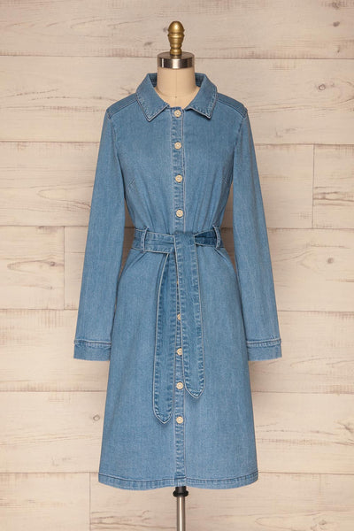 Noviligure Light Blue Denim Shirt Dress | La Petite Garçonne 1