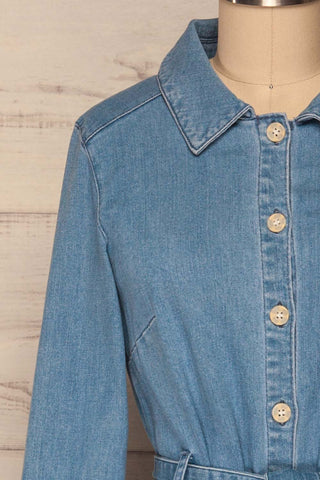 Noviligure Light Blue Denim Shirt Dress | La Petite Garçonne 2