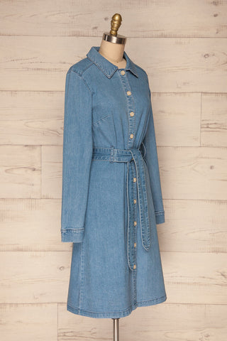 Noviligure Light Blue Denim Shirt Dress | La Petite Garçonne 3
