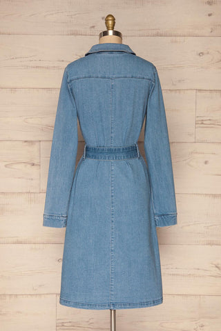 Noviligure Light Blue Denim Shirt Dress | La Petite Garçonne 5
