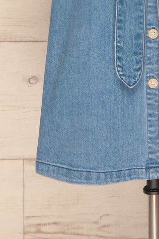 Noviligure Light Blue Denim Shirt Dress | La Petite Garçonne 7