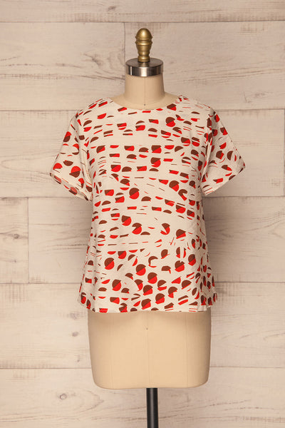 Nuneaton White & Orange Short Sleeved T-Shirt | La Petite Garçonne 1