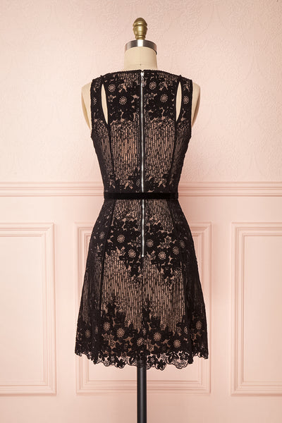 Nuying Black & Beige Lace A-Line Cocktail Dress | Boutique 1861 5