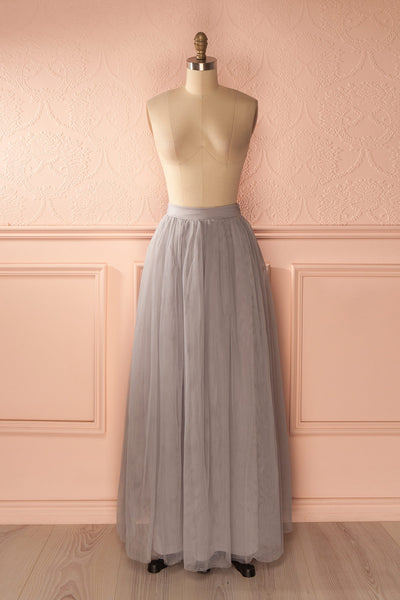 Nydie Fog - Grey maxi tulle skirt 1